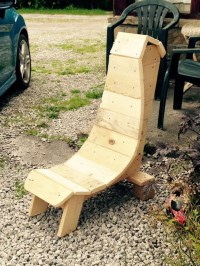 Pallet Made Patio Chair | Pallet Furniture Projects.