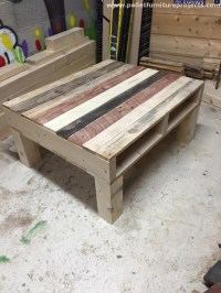Recycled Pallets Coffee Table | Pallet Furniture Projects.