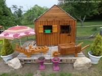 Pallet Patio Garden Deck Cabin   Pallet Furniture Projects.