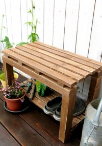 Garden Benches Made with Pallet Wood