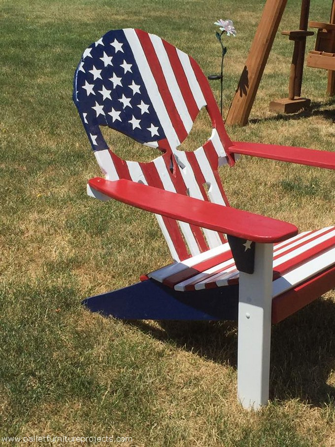 wooden skull chair navy slipper wood architecture home design pallet punisher adirondack plans