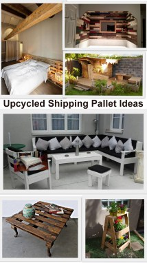 Upcycled Shipping Pallet Ideas Furniture Projects