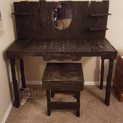 Pallet Wood Chair Desk Perth Wooden Vanity | Furniture Projects.