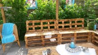 DIY Wood Pallet Patio Furniture Set | Pallet Furniture ...