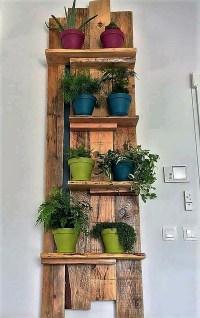 Pallet Wall Decor Pots Shelf | Pallet Ideas