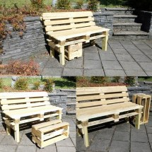 Recycled Pallet Outdoor Furniture Ideas