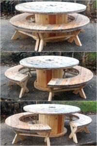 Recycled Pallet Cable Reel Patio Furniture | Pallet Ideas