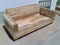 Repurposed Pallet Wood Couch | Pallet Ideas