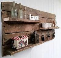 Beautiful Rustic Pallet Shelf / Key Rack Combo | Pallet Ideas