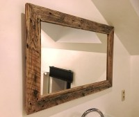 Wood Pallets Cabinet of Bathroom And Mirror | Pallet Ideas