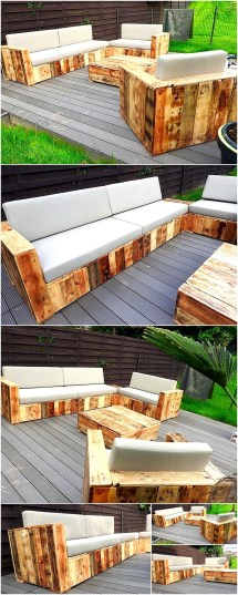 Outdoor Pallet Garden Furniture