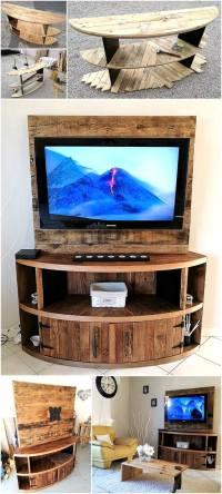 DIY Wood Pallet TV Stand Plan | Pallet Ideas