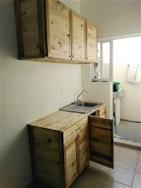 Wood Pallet Recycled Kitchen Cabinets | Pallet Ideas