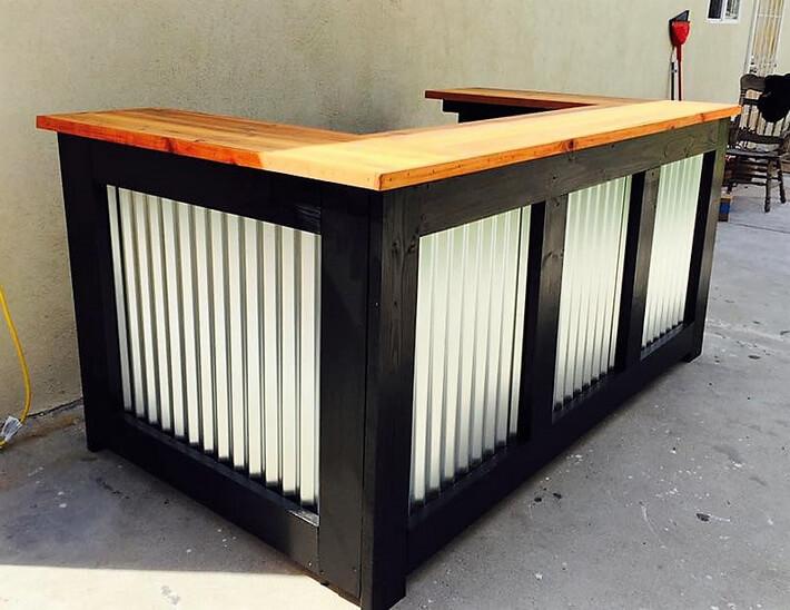 Reclaimed Wooden Pallets Made Bar Idea Pallet Ideas