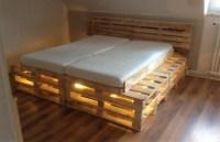 DIY Pallets Wooden Made Bed Plan | Pallet Ideas