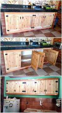 Wooden Pallets Kitchen Storage Cabinets