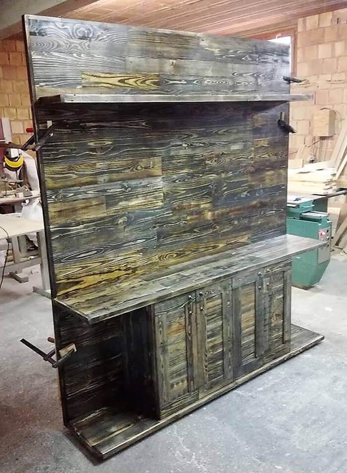Wooden Shelves Made Pallets