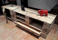 Creative TV Stand Ideas with Used Pallets
