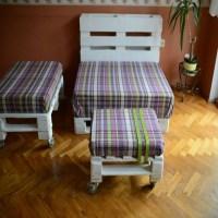 Unique Pallets Furniture Set | Pallet Ideas: Recycled ...