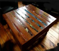 Pallets Ideas, Designs, DIY.  Inlay of Stained Glass for