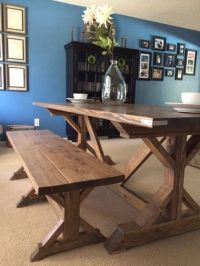 Pallets Rustic Farmhouse Table Bench - My Decor - Home ...
