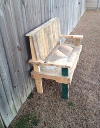 Pallets Made Garden Chair Bench | Pallet Ideas: Recycled ...