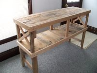 Pallets Rustic Desk Table | Pallet Ideas: Recycled ...