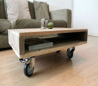 Wooden Pallet Coffee Tables On Wheels - My Decor - Home ...
