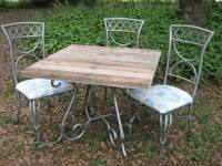 Pallet Wood Top Re-newed Patio Table | Pallet Ideas ...