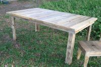 Pallets Made Farmhouse Table And Chair | Pallet Ideas ...