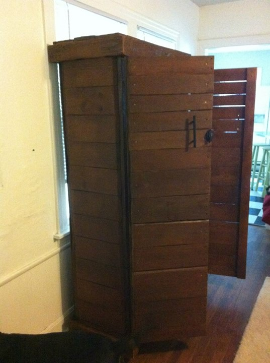 cheap kitchen utensils pics of cabinets recycled wood pallets storage cabinet | pallet ideas