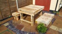 Recycled Corner Bench Table And Pallet Bar Ideas