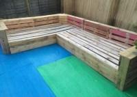 Patio Garden Corner Seating with Pallets | Pallet Ideas ...