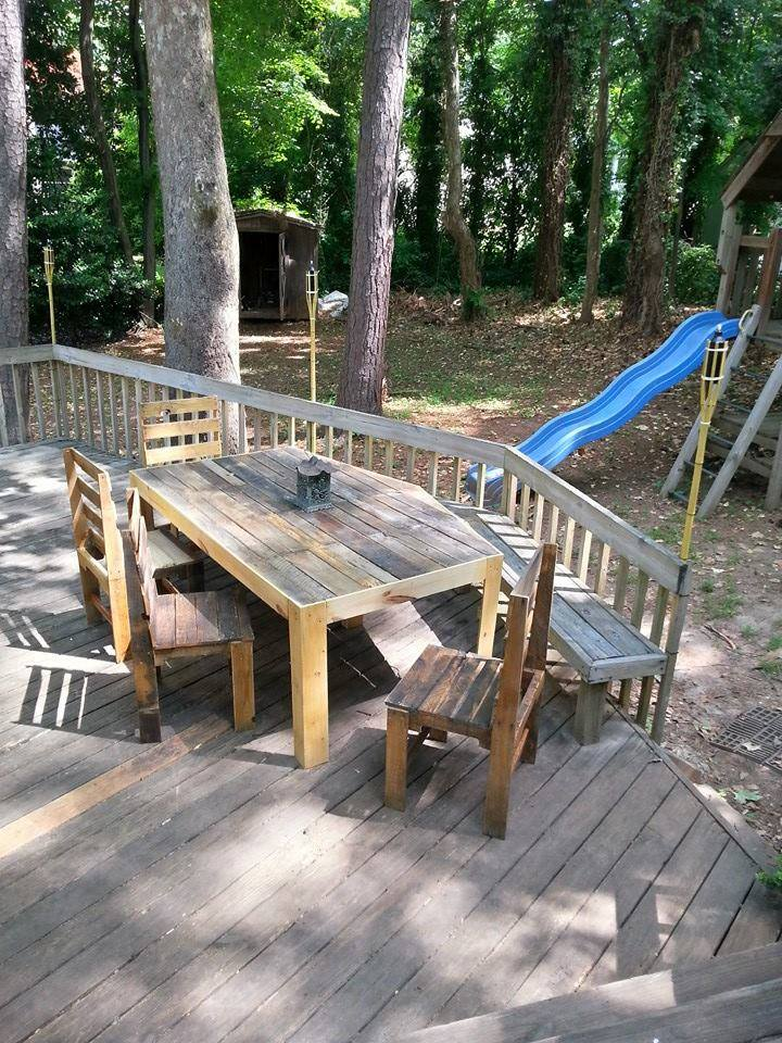 Pallets Patio Deck and Furniture  Pallet Ideas