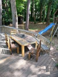 Pallets Patio Deck and Furniture | Pallet Ideas: Recycled ...