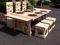 Superb Patio Pallets Table with Chairs