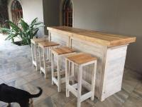Pallets Ideas, Designs, DIY.  Bar Counter with Stools ...