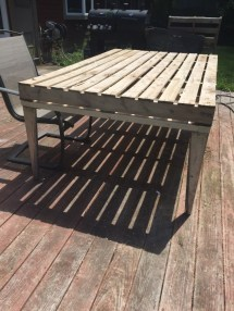 Patio Coffee Table Of Wooden Pallets Pallet Ideas