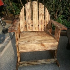 Patio Furniture Rocking Chair Ergonomic Back Support Burnt Wood Effects Pallets Outdoor | Pallet Ideas: Recycled / Upcycled ...