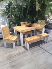 Outdoor Furniture Set Out of Wood Pallet | Pallet Ideas ...