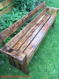 Wooden Pallet Patio Garden Bench