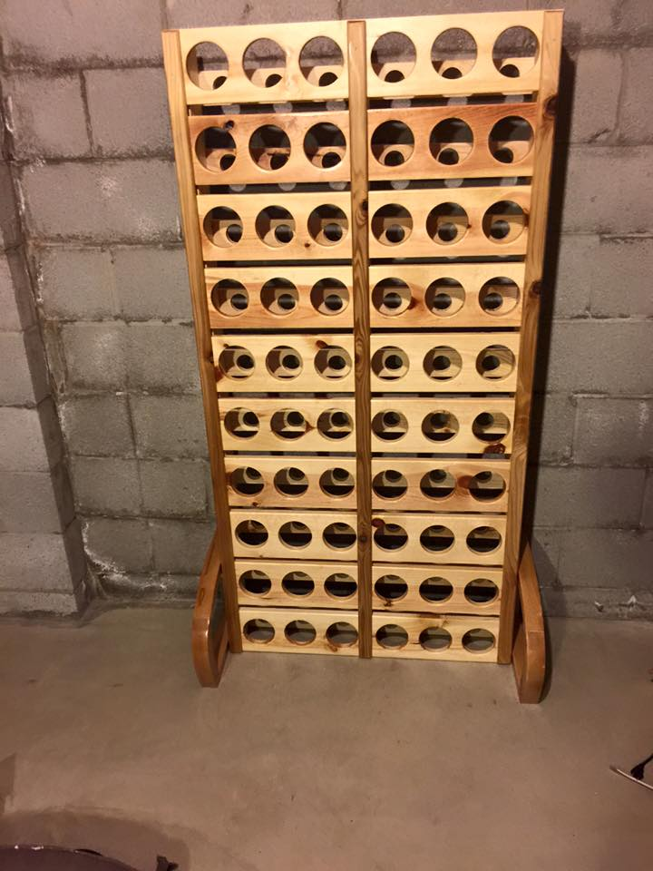 Wood Pallet Wine Rack  Pallet Ideas