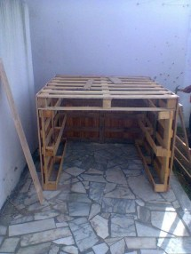 Diy Kids Playhouse Of Pallets Pallet Ideas