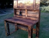 Pallet Wooden Rustic Desk | Pallet Ideas: Recycled ...