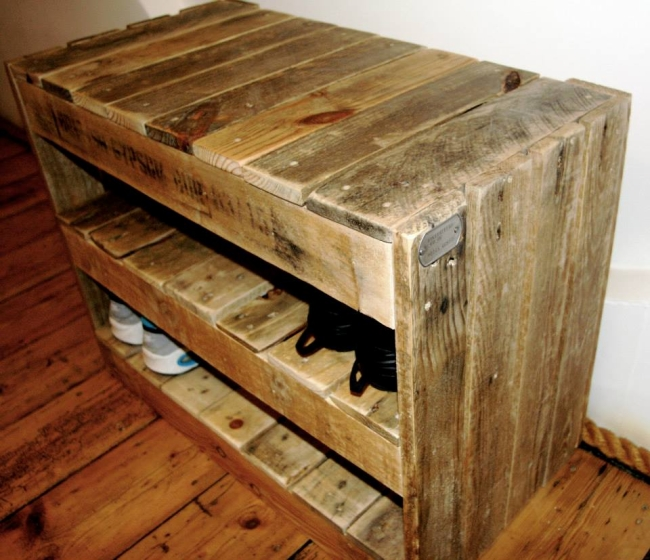 adirondack chair photo frame restaurant chairs canada recycled pallet shoe rack | ideas: / upcycled pallets furniture projects.