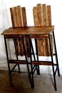 Repurposed Pallet Bar Chairs | Pallet Ideas: Recycled ...