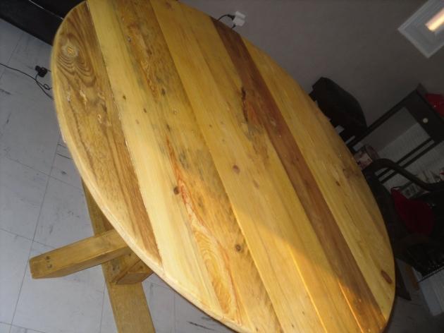 Pallet Kitchen Round Table  Pallet Ideas