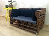 Wooden Pallet Recycled Sofa | Pallet Ideas: Recycled ...