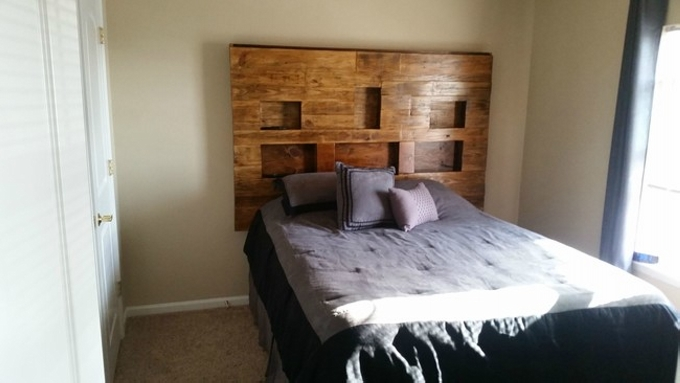 Pallet Bed Headboard with Shelves  Pallet Ideas