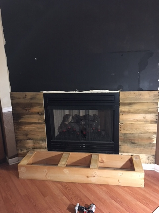 Diy Pallet Wall Fireplace Pallet Ideas
